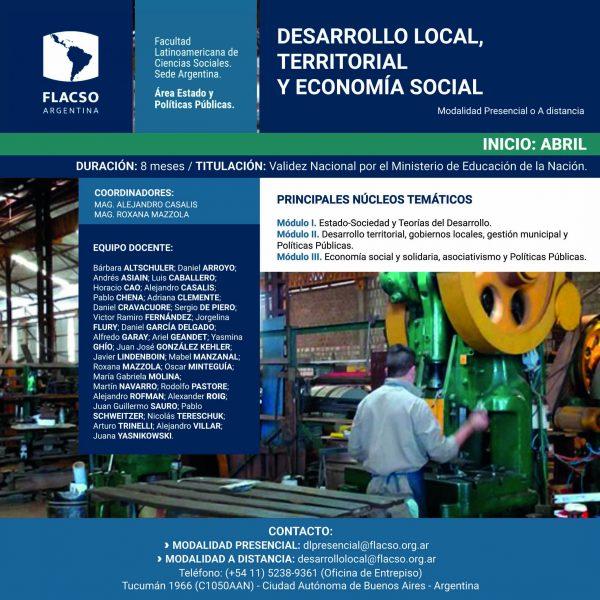 Diploma Superior En Desarrollo Local Territorial Y Economía