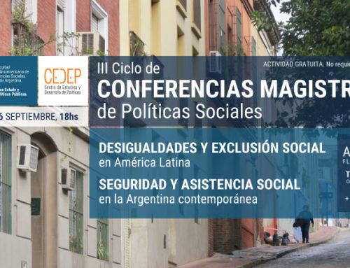 III Ciclo de Conferencias Magistrales en Políticas Sociales