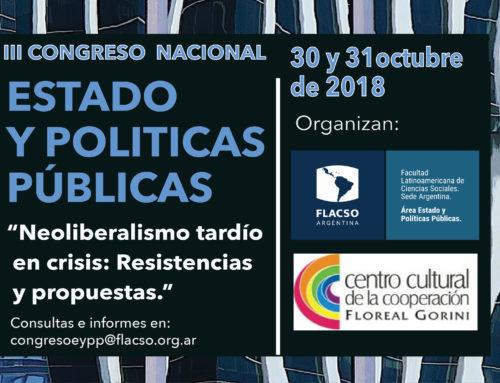 III CONGRESO NACIONAL DE ESTADO Y POLITICAS PÚBLICAS