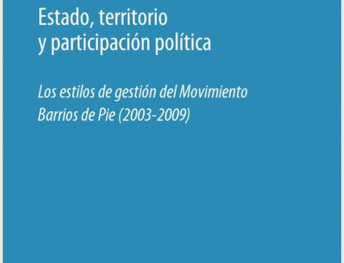 Novedad editorial: Estado, territorio y participación política