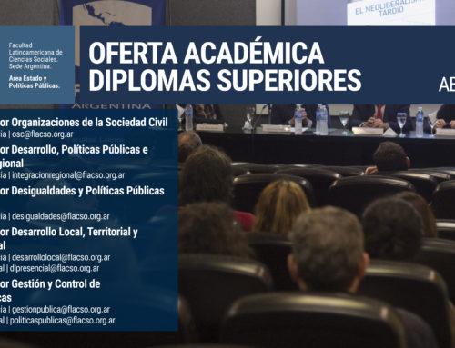 Oferta Académica del Área Estado y Políticas Públicas: Diplomas Superiores