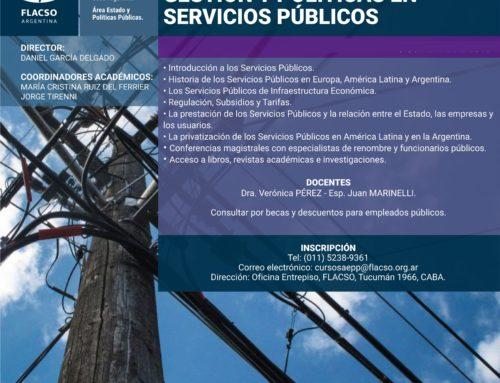 Curso de posgrado: Gestión y Políticas de los Servicios Públicos