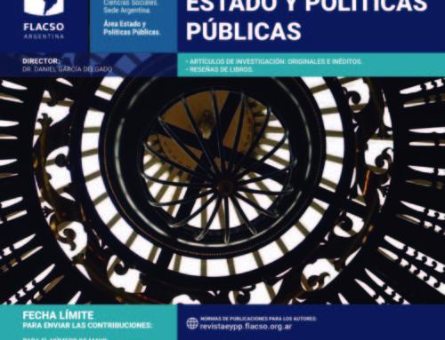 Convocatoria: Revista Estado y Políticas Públicas