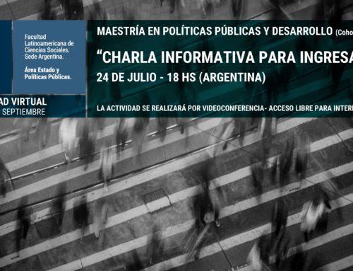 CHARLA INFORMATIVA 2019 – Maestría en Políticas Públicas (virtual)