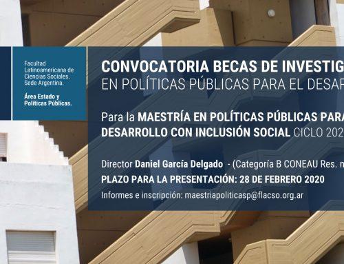CONVOCATORIA BECAS DE INVESTIGACIÓN  EN POLÍTICAS PÚBLICAS PARA EL DESARROLLO