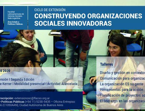 """Charla """"Estrategias innovadoras para potenciar las intervenciones"""" del Ciclo de Extensión Construyendo Organizaciones sociales innovadoras"""