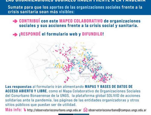 MAPEO COLABORATIVO: Las organizaciones sociales hacen frente a la pandemia