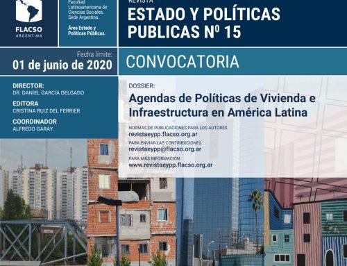 Convocatoria : Dossier sobre Agendas de Políticas de Vivienda e Infraestructura en América Latina.
