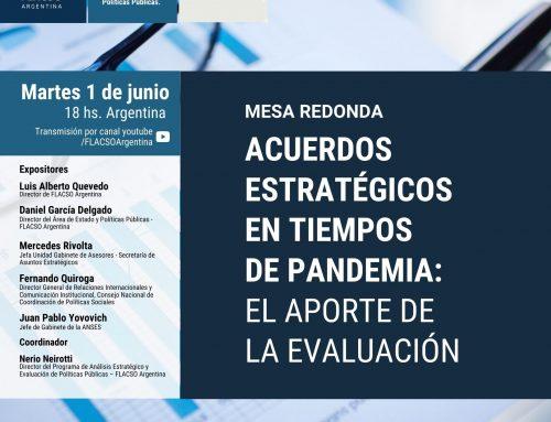 """Mesa Redonda   """"Acuerdos estratégicos en tiempos de pandemia: el aporte de la evaluación"""""""