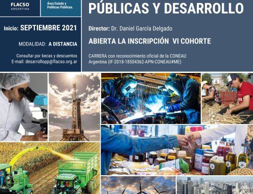 INSCRIPCIÓN ABIERTA   Maestría en Políticas Públicas y Desarrollo (virtual)