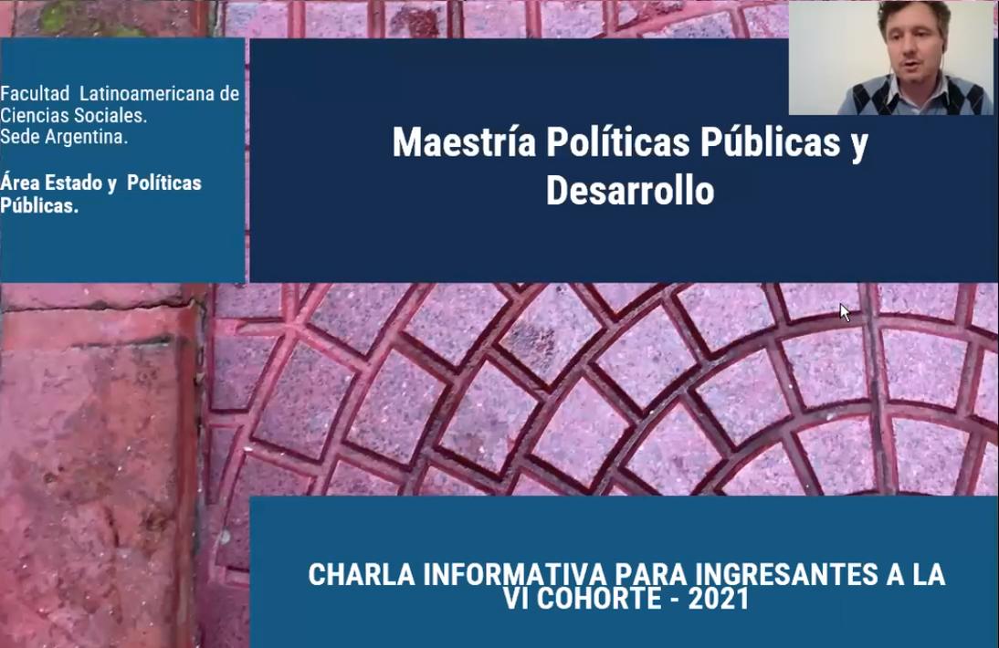 Maestría en Políticas Públicas y Desarrollo | Primera charla informativa